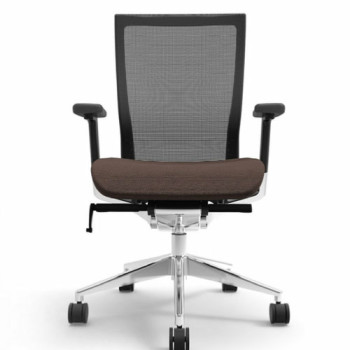 Office Chair (Wheels, Brown)