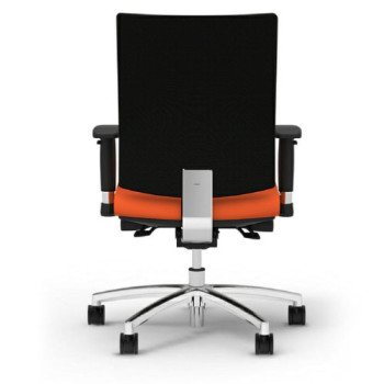 Office Chair (Wheels, Orange, Back View)
