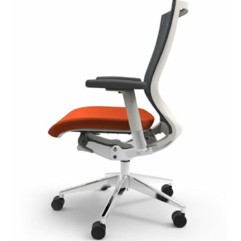 Office Chair (Wheels, Orange)