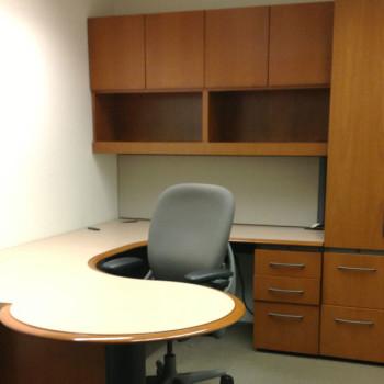 Desk with Overhead Storage
